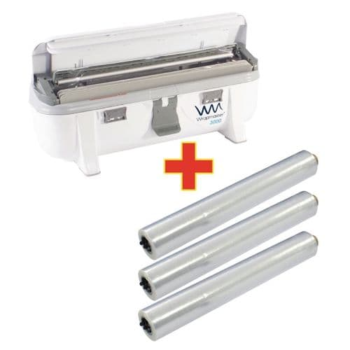 Special Offer Wrapmaster 3000 Dispenser and 3 x 300m Cling Film